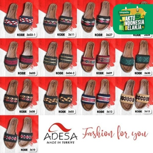 Foto Produk [Carpet Shop Group] ADESA PROMO Sandal Turkiye (RANDOM DESIGNS) - 37 dari Carpet Shop Indonesia