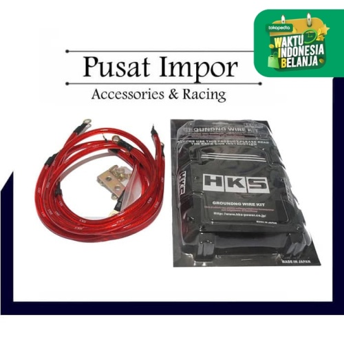 Foto Produk Kabel Grounding HKS Red HKS Grounding wire kits Merah dari Pusat Impor