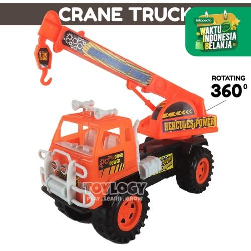 Foto Produk Mainan Anak Construction Crane Truck Truk Konstruksi Mobil Bangunan dari Toylogy