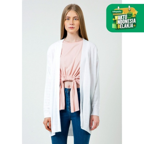 Foto Produk Colorbox Off white Loose cardigan I-Cogkey120D049 Off White - Off White, S dari Colorbox Indonesia
