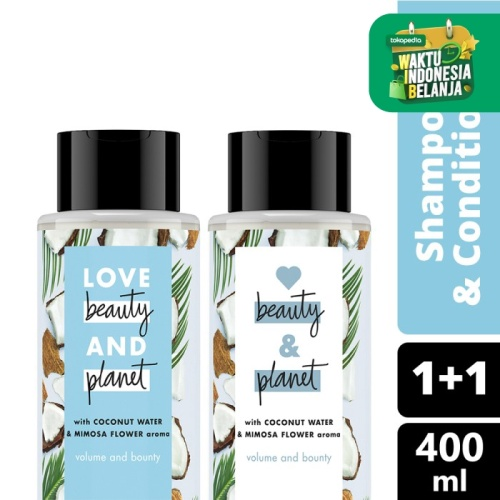 Foto Produk Love Beauty and Planet Coconut Water Shampoo Conditioner 400Ml dari Unilever Official Store