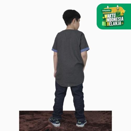 Foto Produk Baju Koko kurta Lengan pendek anak remaja Muslim - Jfashion Ghofur - Abu-abu, 12 dari j--fashion