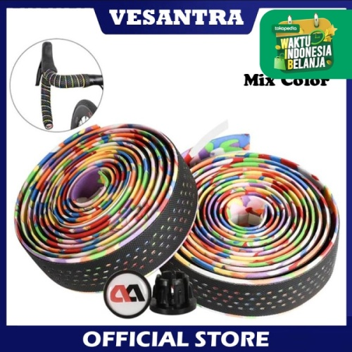 Foto Produk West Biking Bar Tape Road Bike Dropbar Wrap B2359 BK Mix Color dari vesantra