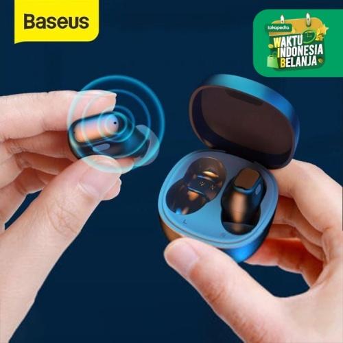 Foto Produk BASEUS True Wireless Bluetooth Earphone TWS Mini Earbuds WM01 - Hitam dari Smart Living Co