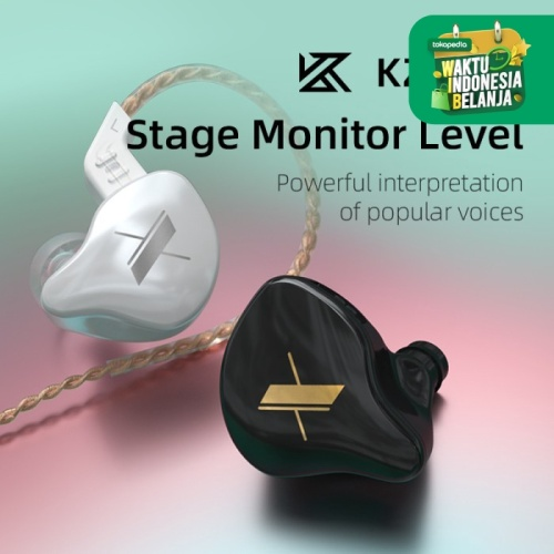 Foto Produk KZ EDX Stage Monitoring IEM Single Driver Earphone - MIC dari Sinfonia Music Shop
