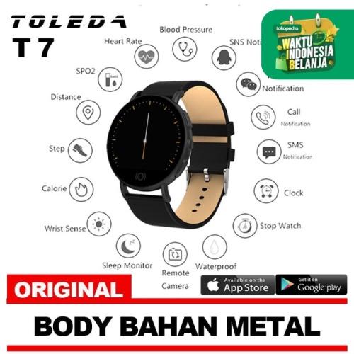 Foto Produk Toleda Smartwatch TLW T7 Original 100% Smartband - Leather Black dari Toleda Indonesia