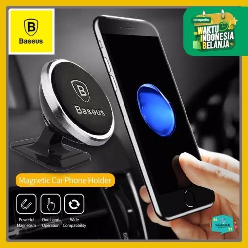 Foto Produk BASEUS Magnetic Car Phone Holder Mount Dudukan HP magnet mobil - SIlver dari tookootri
