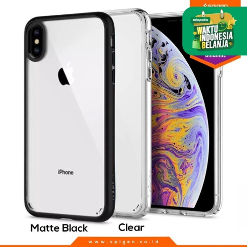 Foto Produk iPhone XS Max / XS / X / XR Case Spigen Clear Anti Shock Ultra Hybrid - Hitam, XS Max dari Spigen Official