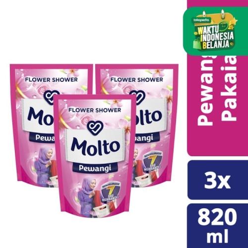 Foto Produk Molto Pewangi Pink 820Ml isi 3 dari Unilever Official Store