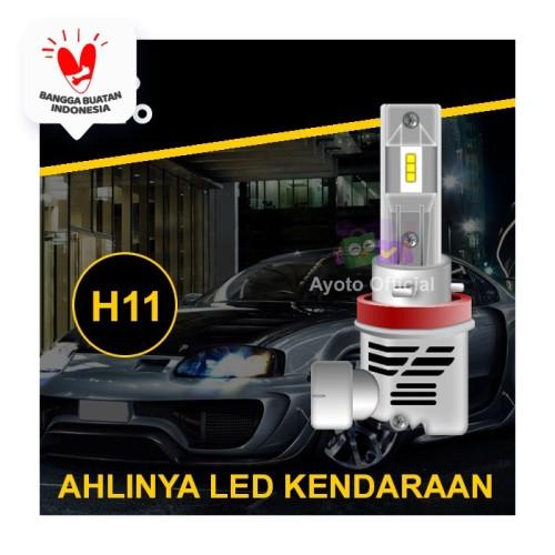 Foto Produk Lampu Mobil LED AYOTO H11 6000k, 35W+35W, 10.000 lumens, PNP - Putih, 1 Pc dari Ayoto Official