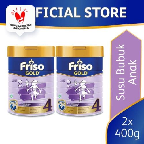 Foto Produk Friso Gold 4 Susu Formula Anak 4-12 Tahun 400g [2 pcs] dari Friso Official Store