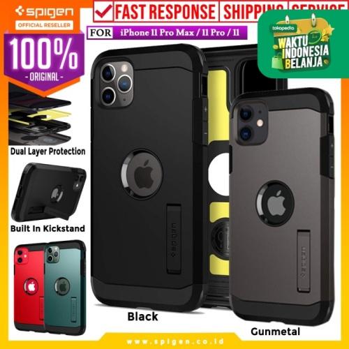 Foto Produk Case iPhone 11 Pro Max / 11 Pro / 11 Spigen Tough Armor Anti Shock - XP Black, iPhone 11 dari Spigen Official