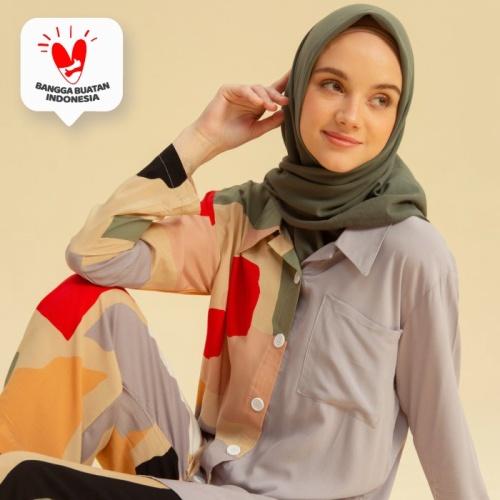 Foto Produk Naura Pajamas Series 2 Lozy Hijab - White Bubble dari Lozyhijab