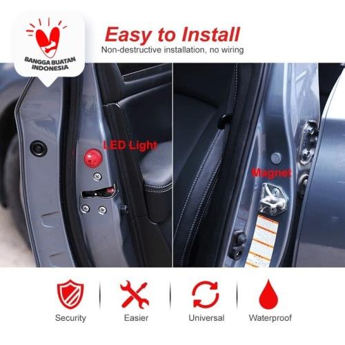 Foto Produk lampu led door open safety warning led / lampu pintu mobil led mobil - Biru dari Modifikasi Market