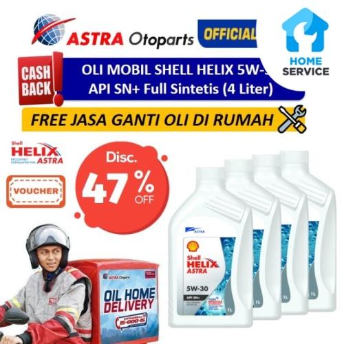 Foto Produk Oli Mobil Shell Helix 5W-30 (4 Ltr) + Free Ganti Oli di Tempat/Rumah dari Astra Otoparts