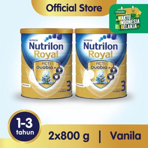 Foto Produk Paket 2 - Nutrilon Royal 3 Susu Pertumbuhan 1-3 Thn Vanila 800gr dari Nutrilon Shop