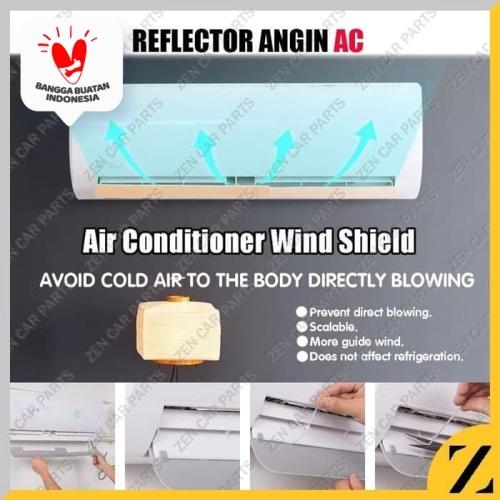 Foto Produk Talang Reflector AC Penghalang Angin Air Screen Cover Universal Adjust dari Zen Car Parts