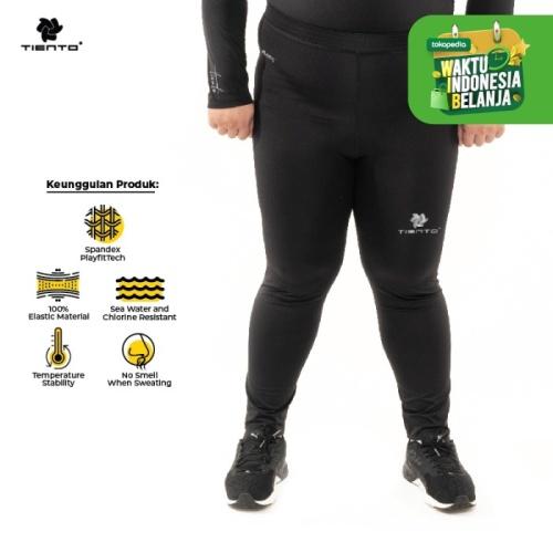 Foto Produk Baselayer Manset Tiento Long Pants Black Silver Men Jumbo - XL dari TIENTO