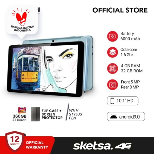 Foto Produk Advan Tab Sketsa 10 Inci 4 GB 32 GB Tablet Android Garansi Resmi dari Advan Official Store