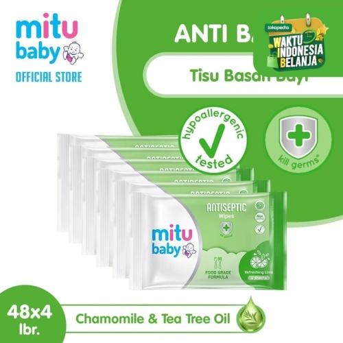 Foto Produk Mitu Baby Antiseptic Tisu Basah Mini [48 x 4's] dari Mitu Indonesia