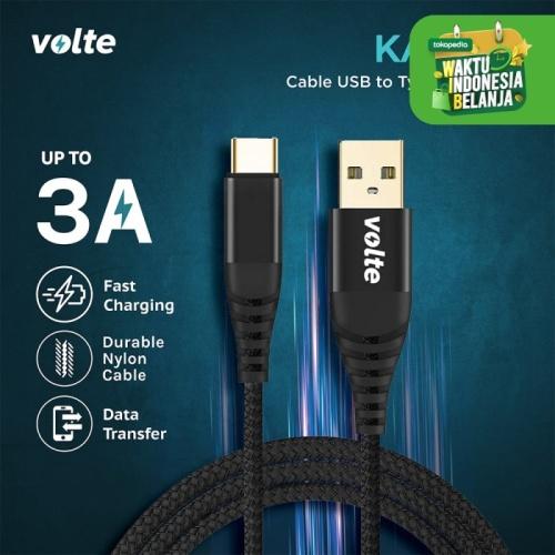 Foto Produk VOLTE KABO C kabel type C USB (100cm) dari volte indonesia