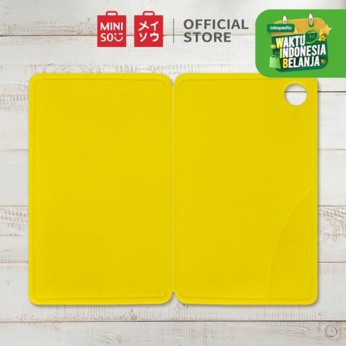 Foto Produk MINISO Talenan Lipat Portable Foldable Cutting Board PP - Yellow dari Miniso Indonesia