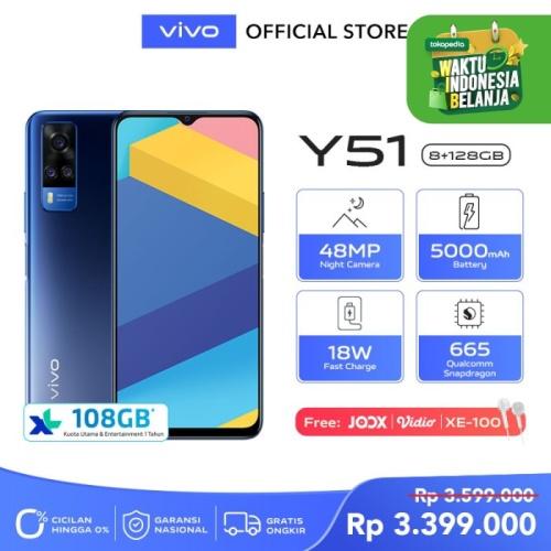 Foto Produk vivo Y51 [8/128] RAM 8GB ROM 128GB Titanium Sapphire dari Vivo Indonesia