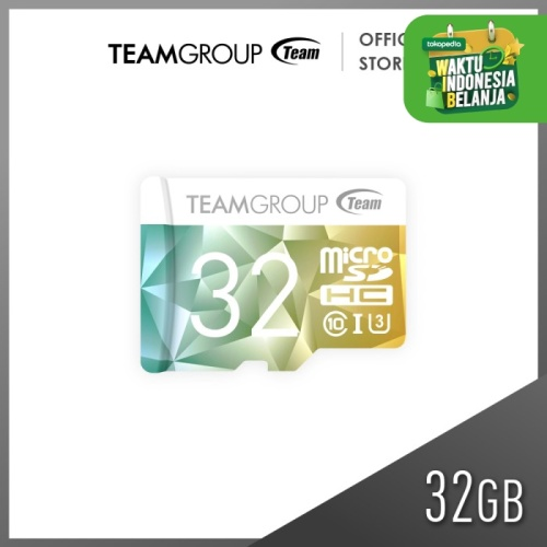 Foto Produk TEAMGROUP COLOR II MicroSDHC 32GB UHS-1 U3 + Adapter dari Teamgroup Official Store