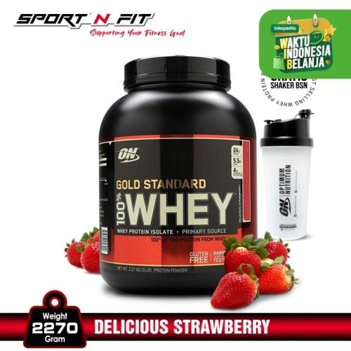 Foto Produk Optimum Nutrision 100% Whey Gold Standard 5lbs Delicious Strawberry dari Sport N Fit