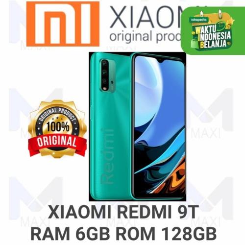 Foto Produk Xiaomi Redmi 9T 6/128 Ram 6GB Rom 128GB Garansi Resmi - GREEN dari Maxi phone cell