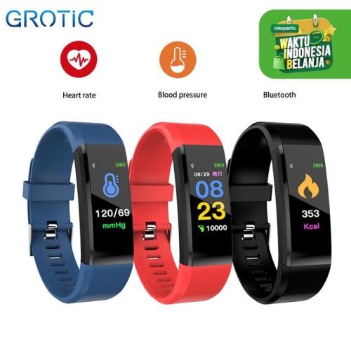 Foto Produk GROTIC Smartband Sport dengan Monitor Tekanan Darah Detak Jantung - Merah dari APRoo