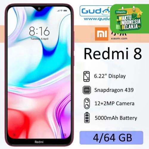 Foto Produk Xiaomi Redmi 8 4/64 GB Garansi Resmi - Merah dari Gudang-HP