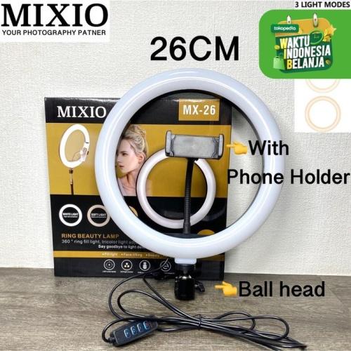 Foto Produk MIXIO RING LIGHT LED 26CM Lampu 26 cm Make Up Vlog Lampu Ringlight dari MIXIO Official Store