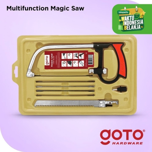 Foto Produk Magic Saw Gergaji Kayu Besi Pipa Multifungsi Set 3 Way Blade Serbaguna dari GOTO Hardware