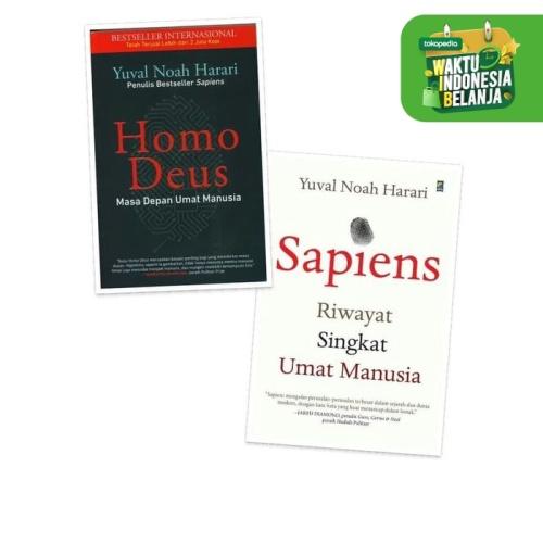 Foto Produk Paket 2 Buku Homo Deus dan Sapiens . dari ombotak