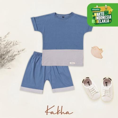 Foto Produk Kakha Series – Set Main Basic Kakha (Set main bayi / set main anak) - Blue-Grey, XL dari kakhaofficial