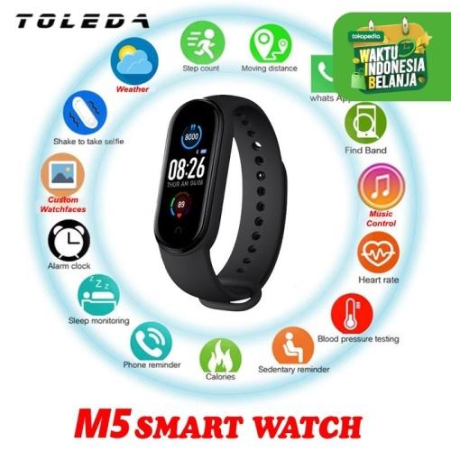 Foto Produk TOLEDA M5 Smartwatch Smart Watch Band Music Player Custom Dials New - M4 Hitam dari Toleda Indonesia