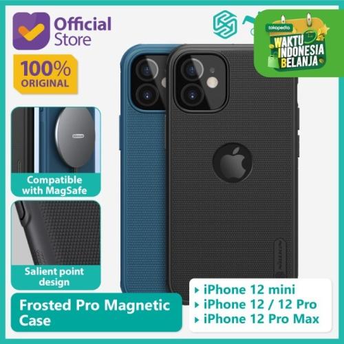 Foto Produk Case iPhone 12/mini/Pro/Pro Max Nillkin Frosted Pro Magnetic MagSafe - Black, 12 Pro Max dari Nillkin Official
