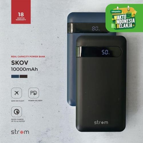 Foto Produk Strom Skov Power Bank 10000mAh Digital Display QC 3.0 Power Delivery - Hitam dari Strom Indonesia