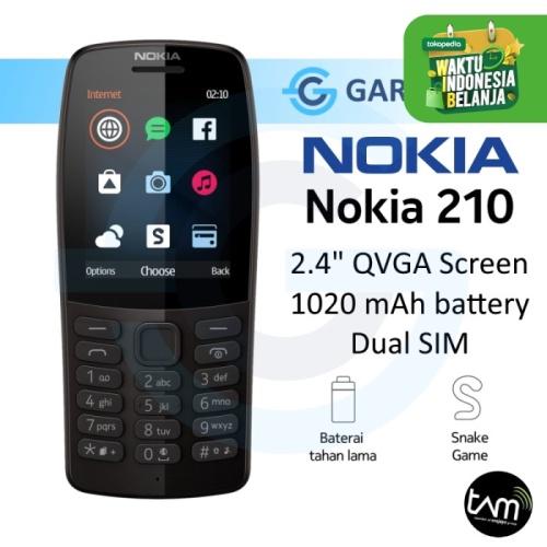 Foto Produk Nokia 210 Garansi Resmi Nokia (TAM) - Hitam dari Garasi.ku