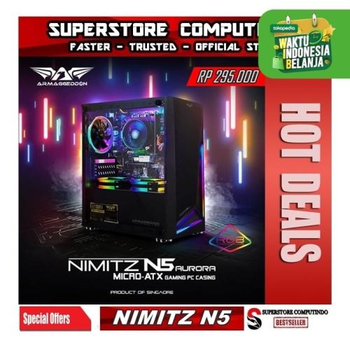 Foto Produk Armaggeddon Nimitz N5 Aurora Micro ATX - Hitam dari SuperStore Computindo
