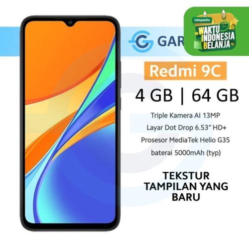 Foto Produk Xiaomi Redmi 9C 4/64 GB 4GB 64GB Garansi Resmi Xiaomi Indonesia - Abu-abu dari Garasi.ku