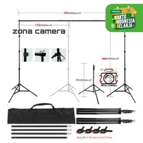 Foto Produk Stand Background 1 Bar Foto Studio Backdrop Tripod Photo Kain Layar dari zona camera