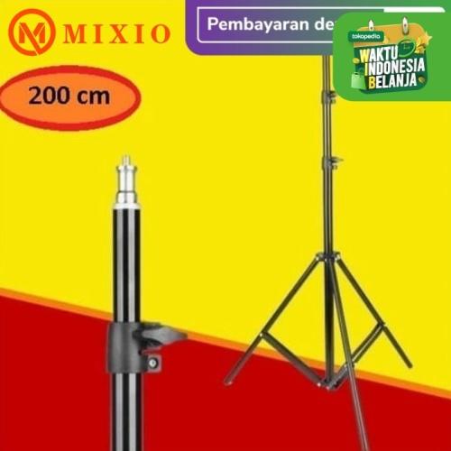 Foto Produk MIXIO Light Stand Tripod 2m for Studio Lightning Portable stand lampu dari MIXIO Official Store