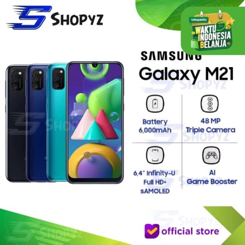 Foto Produk SAMSUNG GALAXY M21 - 6000mAh Battery 4GB 64GB 4/64 Garansi Resmi SEIN - Hitam dari Shopyz ID