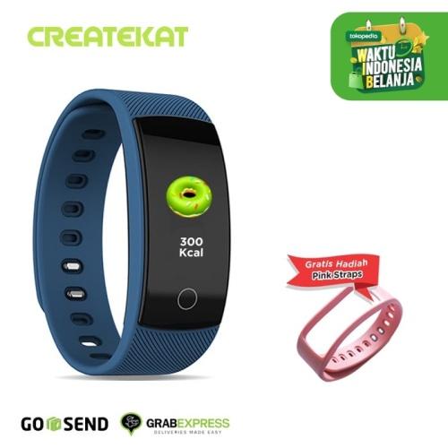 Foto Produk Createkat Smartwatch Pemantau Tidur Smart Band Tahan Air Biru Katfit1 - Biru dari CreateKat