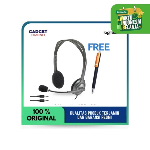 Foto Produk Headset Logitech H110 - Original 100% - Garansi Resmi 2 Tahun dari Gadget Channel