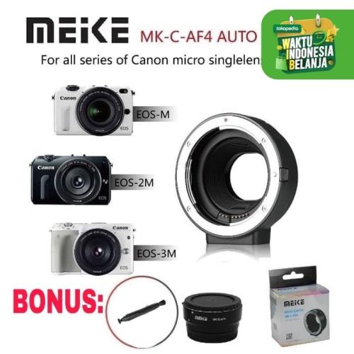 Foto Produk Meike Auto Focus AF Canon EF EF-S Mount Lens to EOS M EF-M Adapter dari zona camera