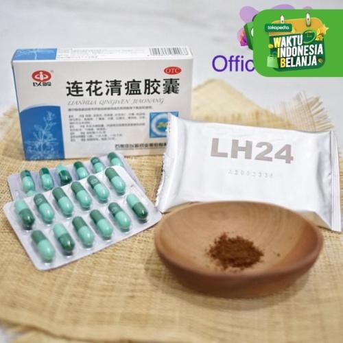 Foto Produk Lian hua qing wen jiao nang 24 capsuls Lianhua qingwen capsules obat dari MIXIO Official Store