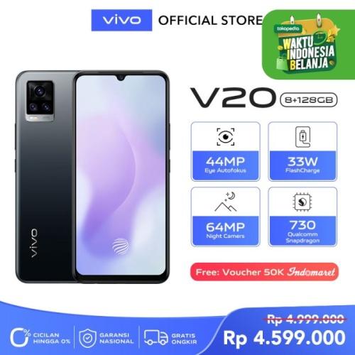 Foto Produk Vivo V20 [8/128] RAM 8GB ROM 128GB Midnight Jazz dari Vivo Indonesia